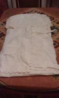 Antik pólyahuzat, partedli és zokni