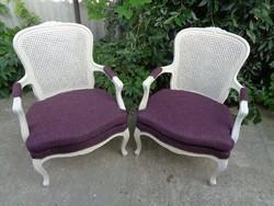 Chippendale fotel párban, ülőpárnával