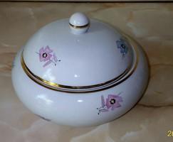 Drasche bonbonier, régi, ritka mintájú, nagyméretű, porcelán cukortartó