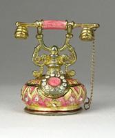 0R533 Telefon alakú köves gyűrűtartó