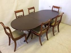 Angol stílusú étkező(asztal+6 szék)