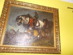 Harangy   lovas  festménye