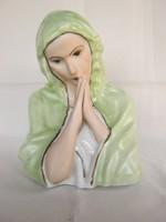 Szűz Mária porcelán büszt