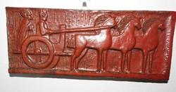 Római lovasfogat - fali jelzett kerámia