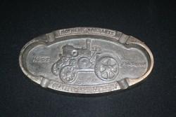 Hofherr-Schrantz-Clayton-Shuttleworth Magyar Gépgyári Művek Rt emlékplakett (hamutartó)
