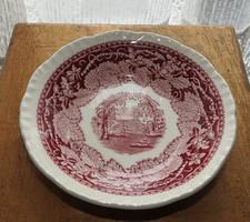 Mason -Vista  Ironstone angol pink jelenetes mély tál - tányér