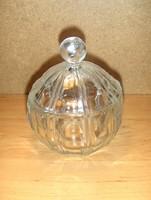 Retro üveg cukortartó (24/d)