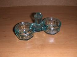 Ritka régi zöld üveg sótartó borstartó (22/d)