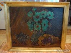 Asztali virágcsendélet festmény