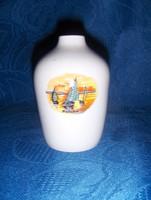 Hollóházi porcelán Balaton emlék váza 9 cm magas (fp)