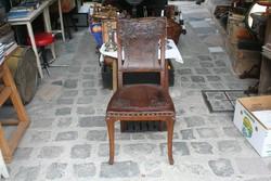 Mesés szecessziós szék- nyomott bőr huzattal