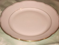 Aranycsíkos czeh tányér lapos
