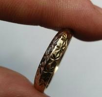 Jelzett sárga és fehérarany gyűrű