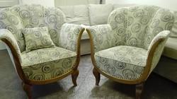 Art Deco tulipán nappali garnitúra kanapé és 3 db fotel
