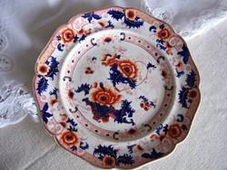 Angol Ridgway tányér a XIX. század közepéről, muzeális darab.