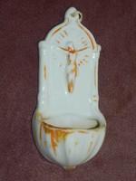 Antik porcelán szenteltvíztartó.