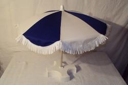 Kávéházi - asztali napernyő - talpába épített nehezékkel - levehető - vászon huzattal 45 x 42 cm