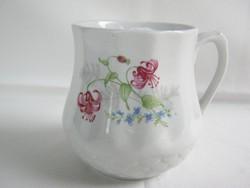 Drasche porcelán vadvirágos csupor hasas bögre