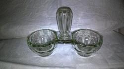 Öntött üveg sótartó fűszertartó fokpiszkáló tartó