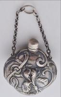 Szecessziós  ezüst miniatűr parfümös szelence
