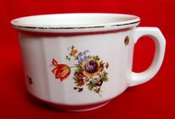 Antik Gránit csupor óriási Kispest Porcelán virágos