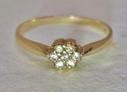 Szépséges margaréta  14kt aranygyűrű