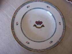 XIX. századi Minton (angol fajansz) tányér, gyönyörű érett állapotban
