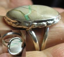 925 ezüst gyűrű, 18,3/57,5 mm variscittel