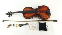 0O879 Antik JOHANN BAPTIST svájci hegedű 1850