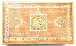 Intarziás doboz gyöngyház berakással