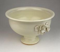 0R680 Kisméretű fehér kerámia kaspó virágtartó