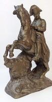 65 centisméteres antik Napóleon terrakotta szobor