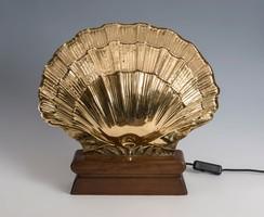 Kagyló formájú asztali lámpa Gabriella Crespi stílusában