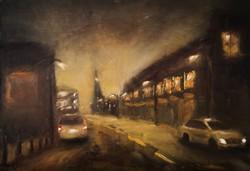 Éjszaka a külvárosban // Suburb at night