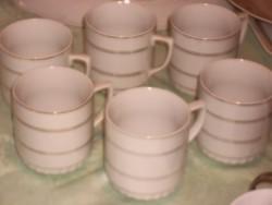 Antik cseh jelzett hibátlan elegáns teás csésze 6 darab