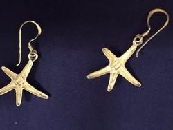 Ezüst (Ag), tengeri csillag fülbevalópár, jelzett  (NB)