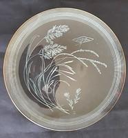 Nagyméretű mintás üveg tányér