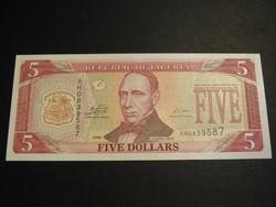LIBÉRIA 5 DOLLÁR 2009 UNC     /8/