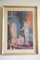 Paul Peel Fürdés után c. híres festménye alapján készült nagyméretű gobelin