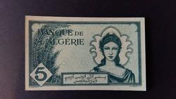 ALGÉRIA 5 FRANCS 1942 UNC      /3/