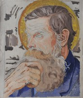 Ismeretlen festő: Férfiszent portré