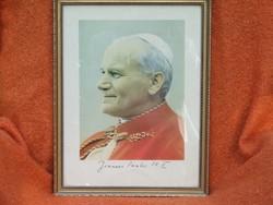 II.János Pál pápa kép  szép keretben