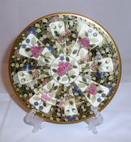 Zsolnay csemgés tányér 1896.