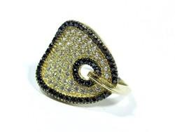 Köves arany gyűrű(Kecs-Au73390)