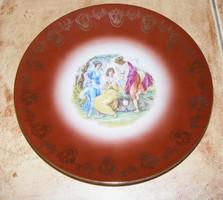 Jelenetes jelzett tányér