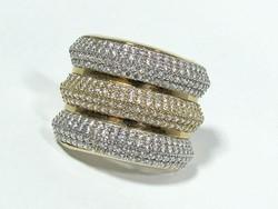 Köves arany gyűrű(Kecs-Au67684)