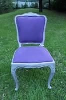 Barokk szék,  lila kárpittal