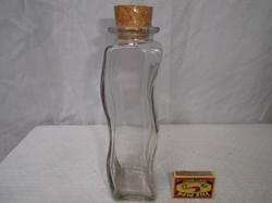 Üveg - különleges  -  vastag falú palack -  23 x 16 x 6 cm - hibátlan