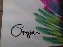 Székely László: Orgia akvarell