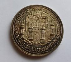 MÉE vándorgyűlés Esztergom 1992. Hatalmas ezüst emlékérme. PP. 36 gramm.
